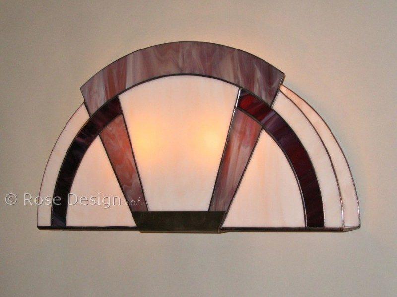 Arcade, Rose Design Tiffany wandlampe