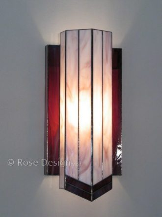 Delta een Rose design Tiffany wandlamp