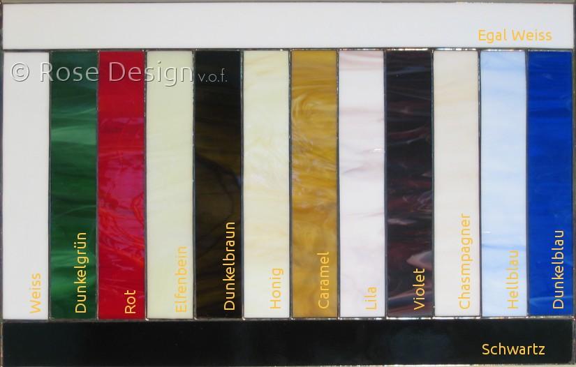 Rose Design Standardfarben unbelichtet.
