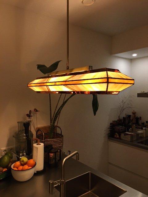 Ein Innenraum Foto von Freek & Marieke mit einer Rose Design Silhouette in der Küche.