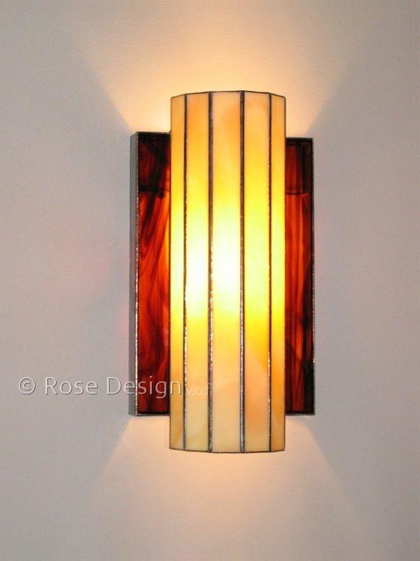 Omega, Rose design Tiffany wandlamp