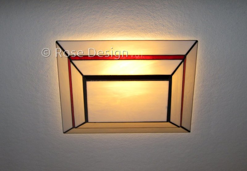 Scala 40 x 30cm. plafonnière, van Rose Design Tiffany lampen