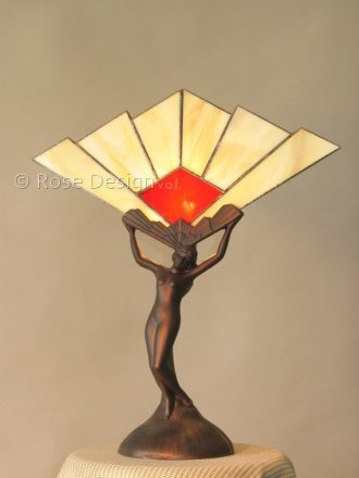 Vesta ein Tiffany Tischleuchte von Rose design