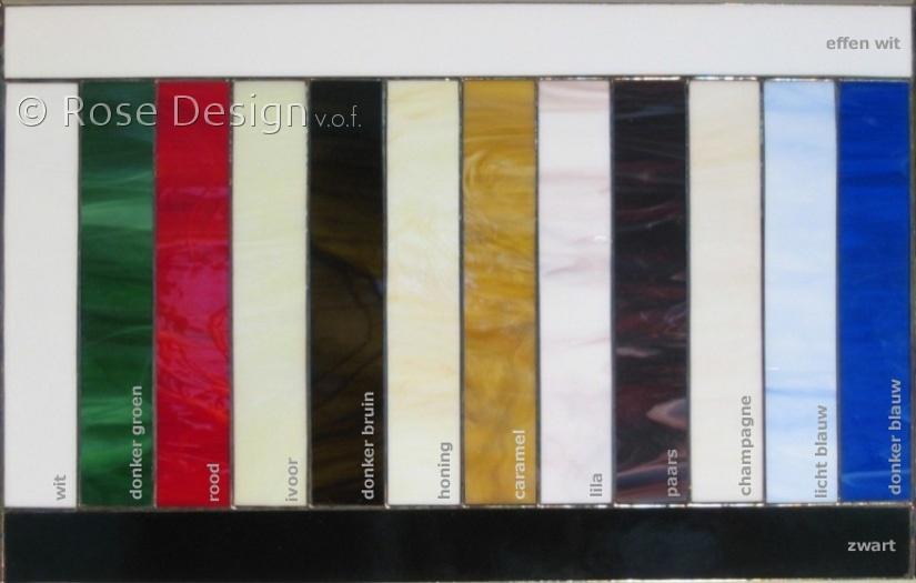 Rose Design standard kleuren onbelicht.