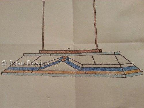 pdf tekening van een Diamond hanglamp ingevuld door een klant met de gewenste kleuren.