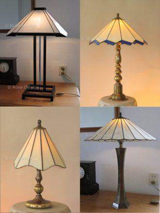 Collage van diverse tafellampen met link naar een webpagina met meer informatie.